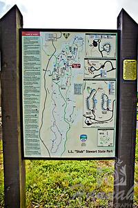 Trail map sign found at L.L. Stub Stewart State Park in Oregon  © Copyright Hannah Pastrana Prieto