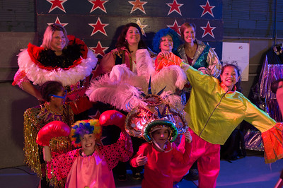 A group of revelers having a blast at a surprise 40th birthday party held at Circus Mojo in Latonia Kentucky.