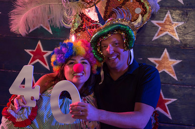 A surprise 40th birthday party thrown for this guy by his wife at Circus Mojo.
