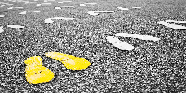 """Yellow Footprints"" - USMC Recruit Depot, Parris Island   Recommended Print sizes*:  4x8  