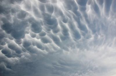 Ominous Mammatus Clouds