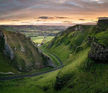 Sunrise over Winnats Pass