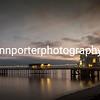 Penarth Pier at dusk, December 2017.