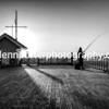 Gone fishing (B & W )
