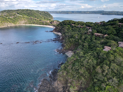 Aerial View of Peninsula Papagayo and Four Seasons Hotel in Costa Rica