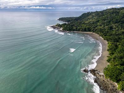 Paradise Beach at Playa Matapalo and Backwash in the Peninsula de Osa in Costa Rica