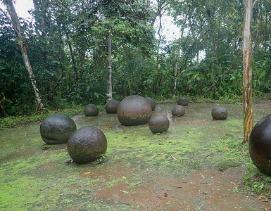 Prehistoric stone spheres in Costa Rica