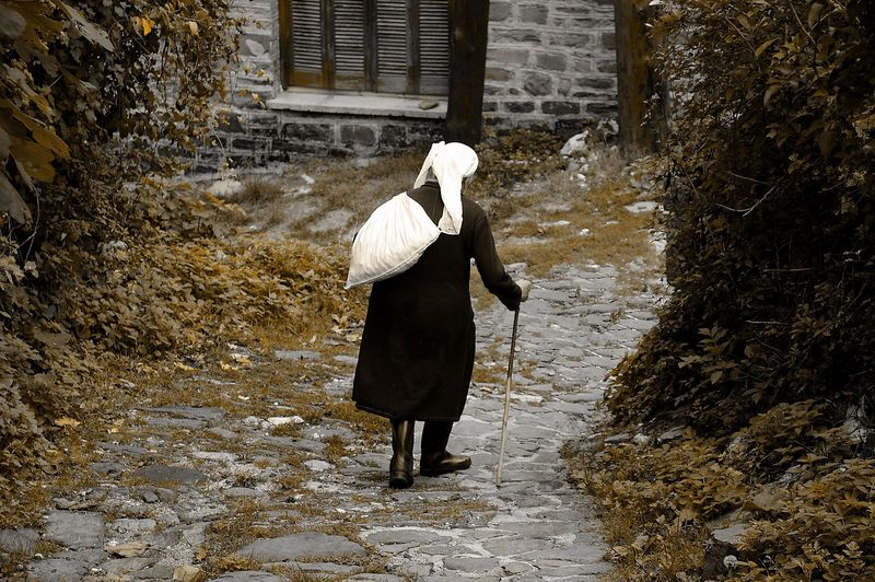 Aged woman in Zagorochoria..