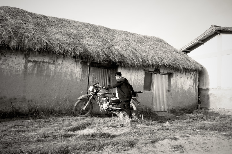 Boy With His Motorcycle