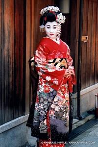 Woman dressed as a geisha, Kyoto, Japan