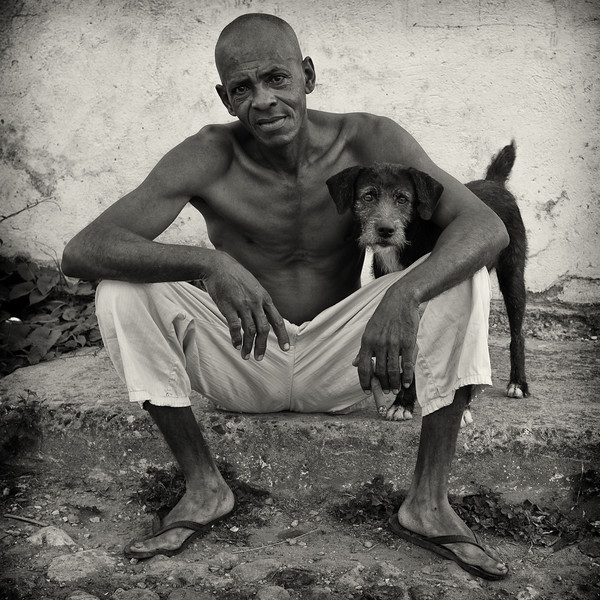 Man with his dog, Trinidad, Cuba