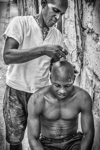 Street shave, Havana
