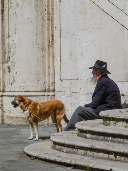 A man and his dog, Italy