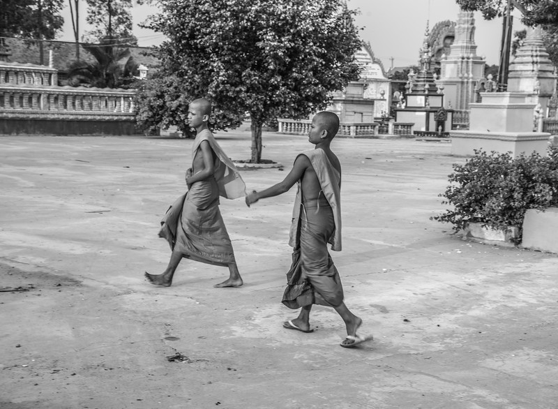 Young Buddhist monks, Southeast Asia