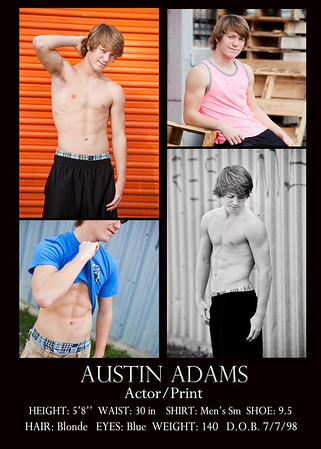 Austin comp card back