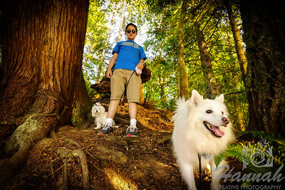 A boy with his 2 dogs at Henry Hagg Lake & Scoggins Valley Park in Oregon  © Copyright Hannah Pastrana Prieto