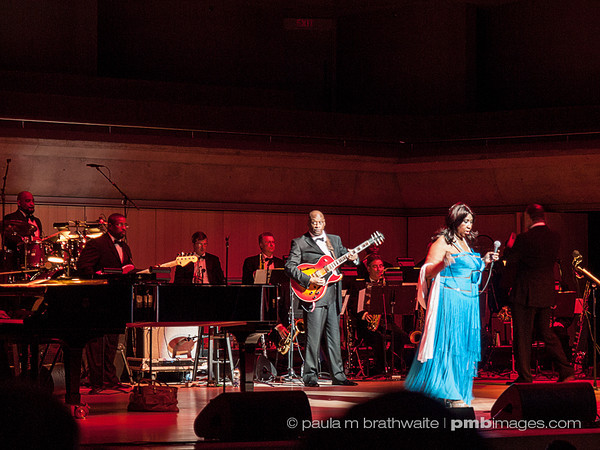 Ms. Aretha Franklin and her band, performing in Toronto. ~ April 12, 2013