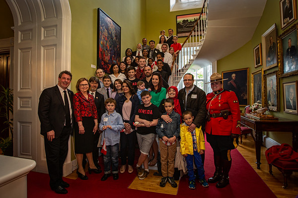 Group photo. Canadian Citizenship Ceremony at Government House in St John's Newfoundland