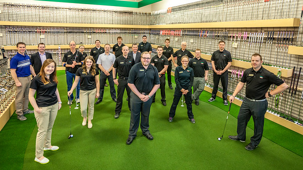 Golf Town grand opening Brad Gushue and staff