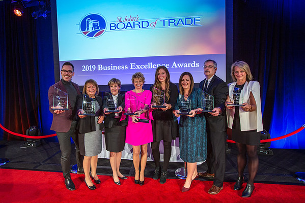 The award winners at the 2019 St John's Board of Trade Business Excellence Awards