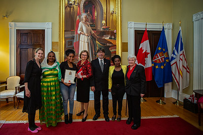 Canadian Citizenship Ceremony at Government House in St John's Newfoundland