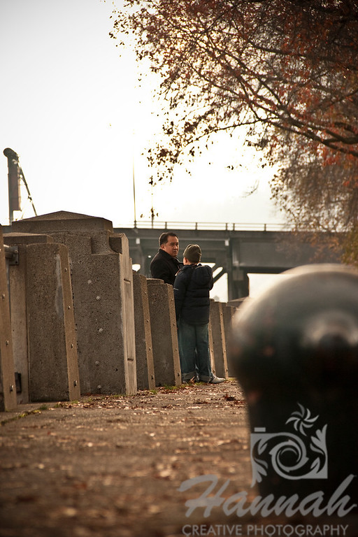 Father and Son at a distance  © Copyright Hannah Pastrana Prieto