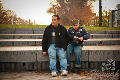 Father and Son sitting  © Copyright Hannah Pastrana Prieto