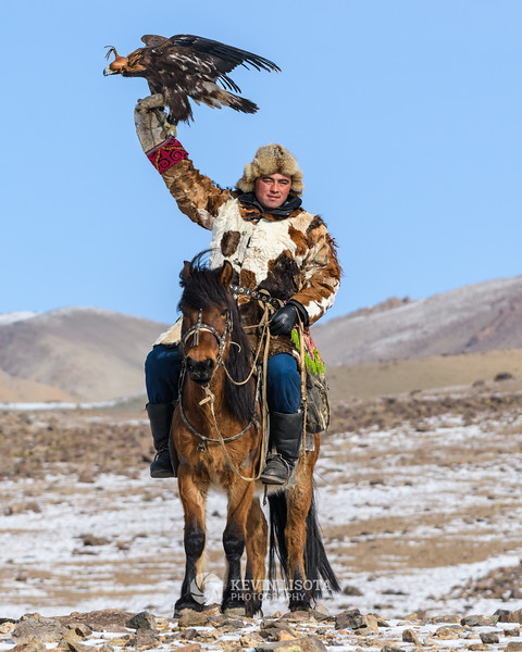 Jensibek and his golden eagle