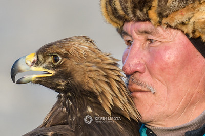 Turganbek and his golden eagle