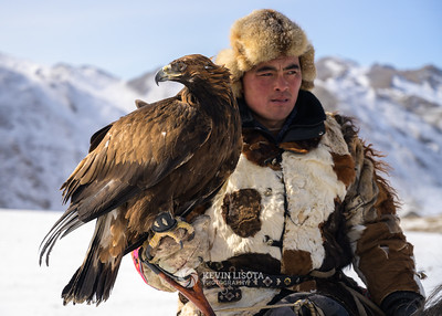 Jenisbek and his golden eagle