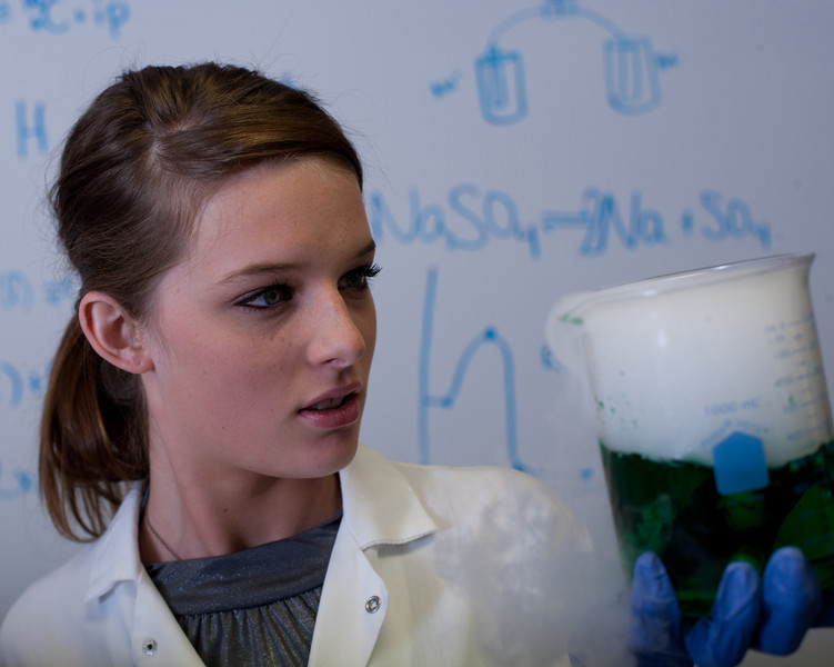 """""""I've done it!"""" is one of the more fun results of this otherwise fairly serious session using dry ice to create the bubbling formula for our mad scientist Shaydie."""