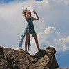 """""""Making of a storm"""" was the result of model vs. wind on top of Flagstaff Mountain."""