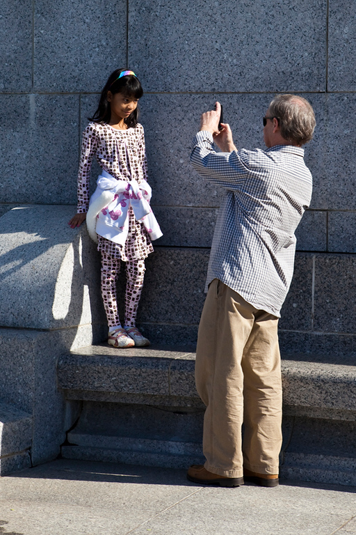 Photograph at the WW II monument
