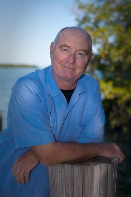 The novelist Rodman Philbrick, Marathon, Florida