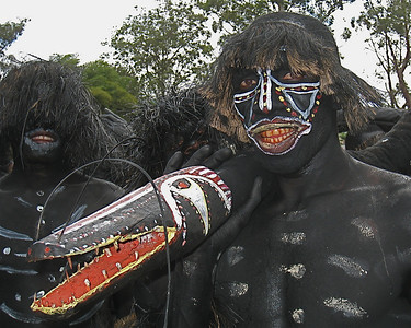 Snake dancers.  Goroka, Papua New Guinea.