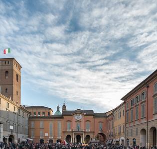 Liberté, égalité, fraternité, in marcia per rimanere umani - Piazza Prampolini, Reggio Emilia, Italy - January 11, 2015