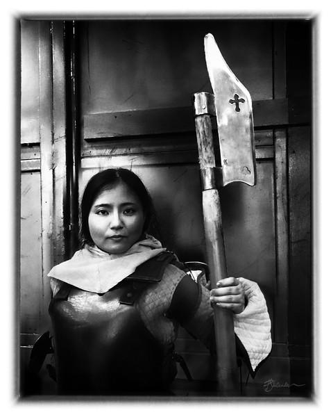 Lady Agathe with Pole Ax