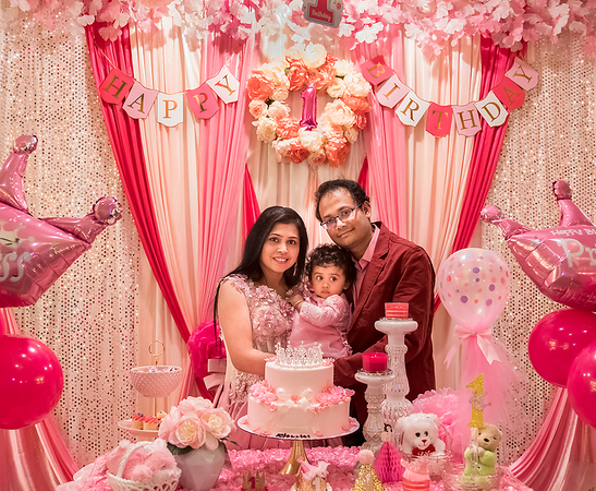 Pihu's First Birthday Picture - The complete decoration by Chandana ...