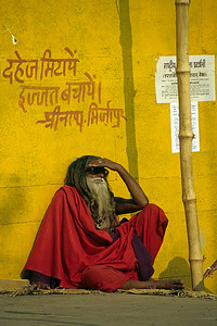 "Patience /  The graffiti reads: ""Abolish dowry, save your honor"" / Varanasi, India"