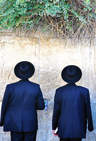 Two Hats:  Western Wall Jerusalem, Israel