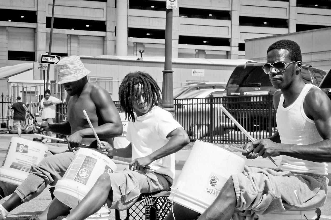 Outside Comerica Park May 2014.<br /> Detroit, MI