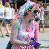 Happy colored face :- ) Run or Dye - Color Run @ Atlanta - 2013