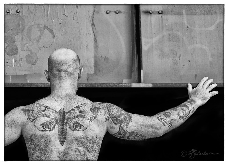 The Man with the Moth Tattoo