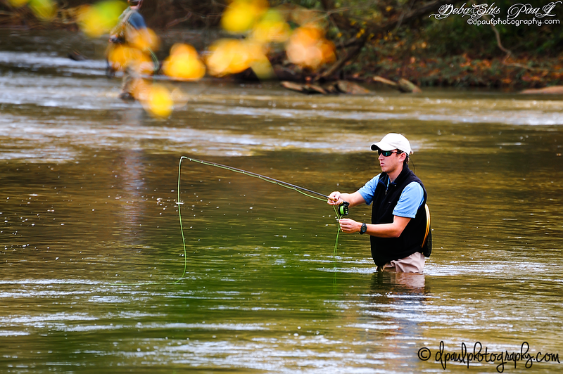Fishing in chattahoochee River @ White water creek Trail