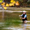 Fishing in chattahoochee River @ White water creek Trail