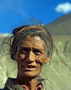 Elements / A Khampa nomad (male) / near the Salween River, Kham, Tibet