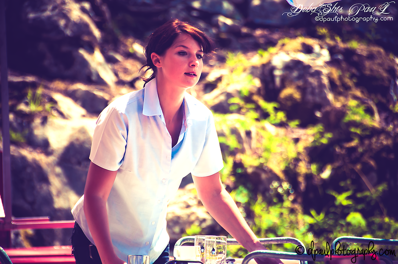 She serve for you ... She wish you enjoy your food and beverages ... Now time to pay off ... Do you like it ??  @Appenzell Alps Restaurant - Ebenalp, Switzerland