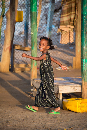 All smiles, a young girl in Zaylac Village, Northern  Somaliland