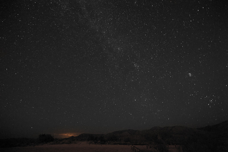 There is no Perseid Meteor in this photo. I published it because I liked the photo with the light pollution from the distant town of Payson and the blanket of stars.
