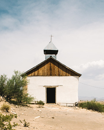 St Agnes Church Exterior Terlingua Texas